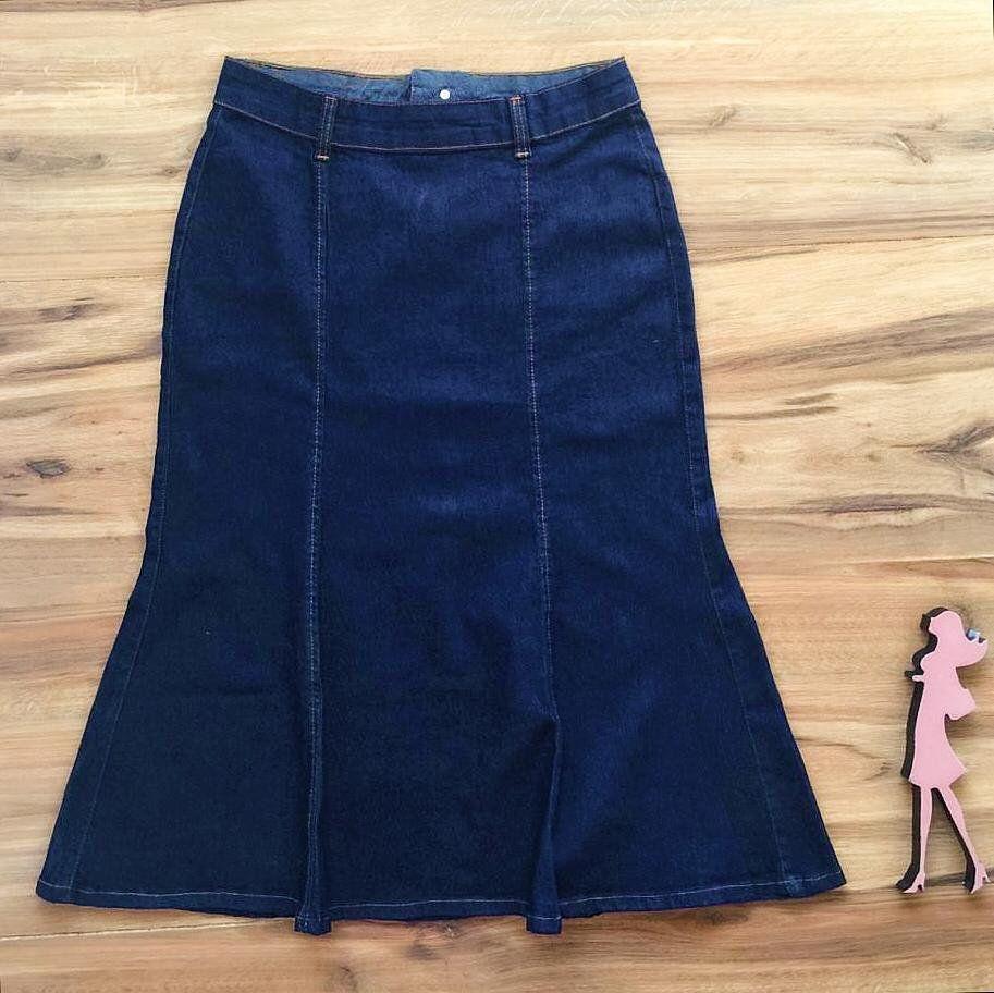 Saia Jeans Coleção Verão AT074