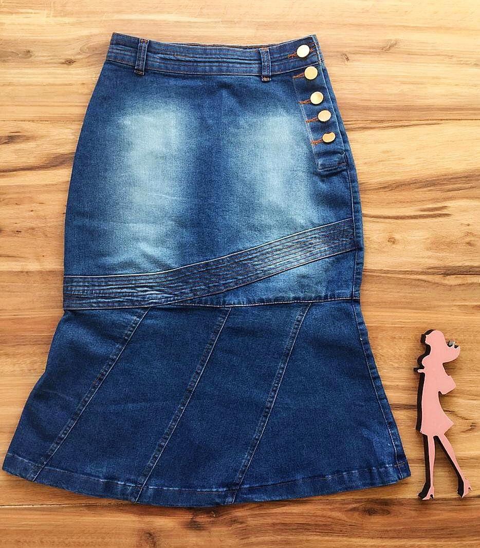 Saia Jeans Coleção Verão AT077