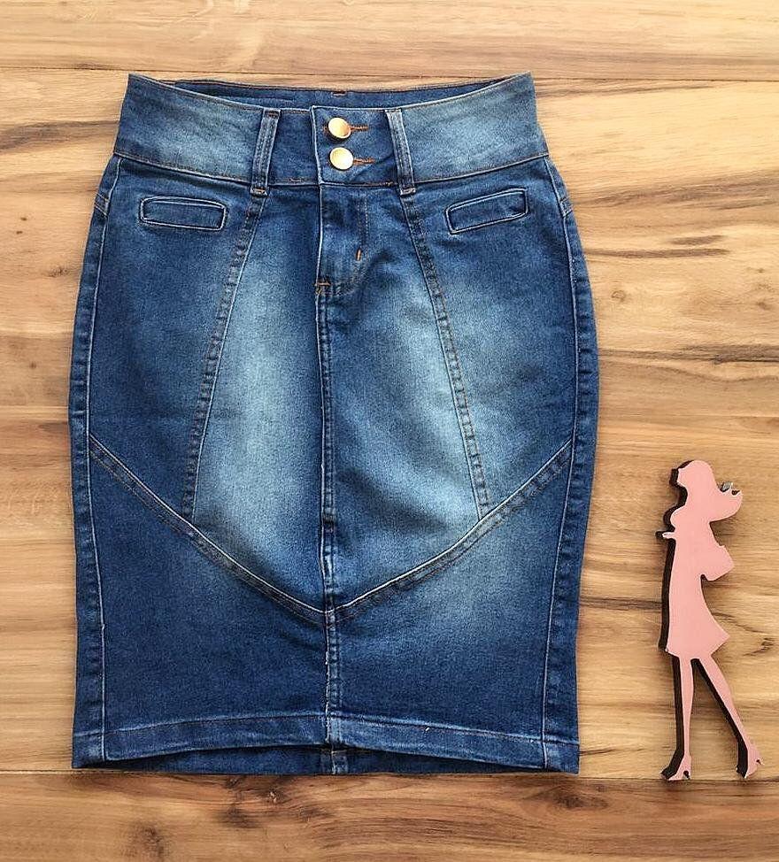 Saia Jeans Coleção Verão  AT080
