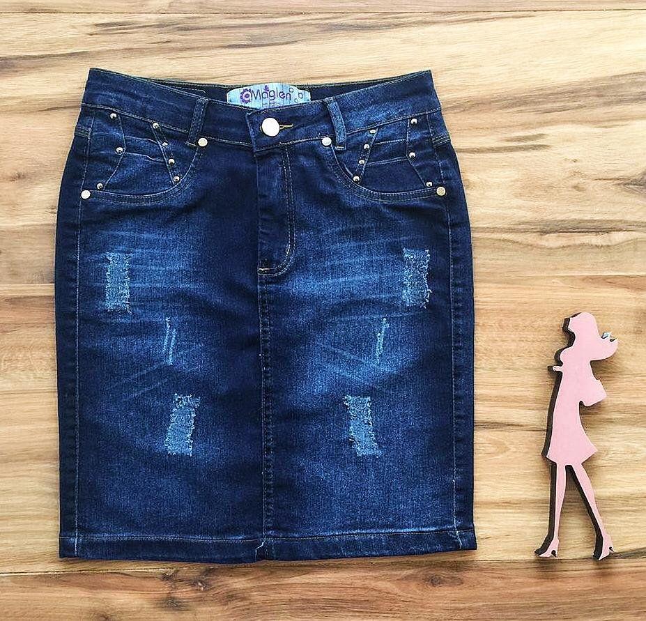 Saia Jeans Coleção Verão  AT520