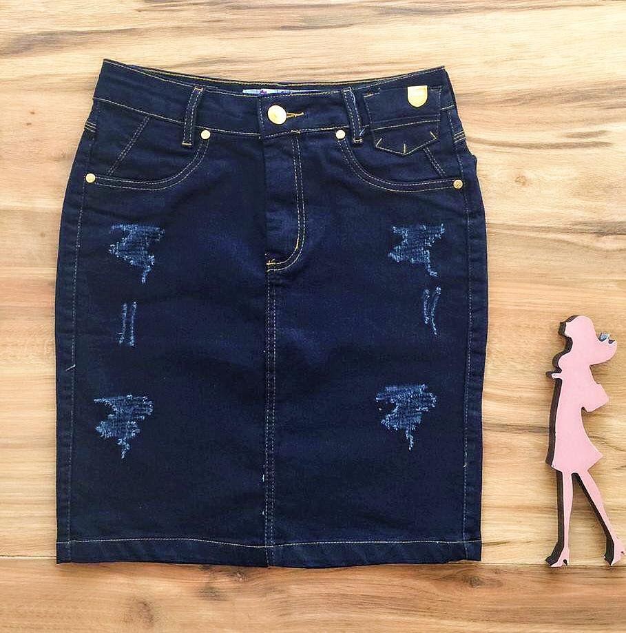Saia Jeans Coleção Verão AT526