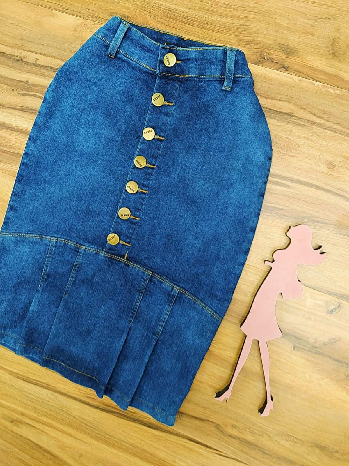 Saia Jeans Fernanda SAIA BELLA SB797185 - azul claro