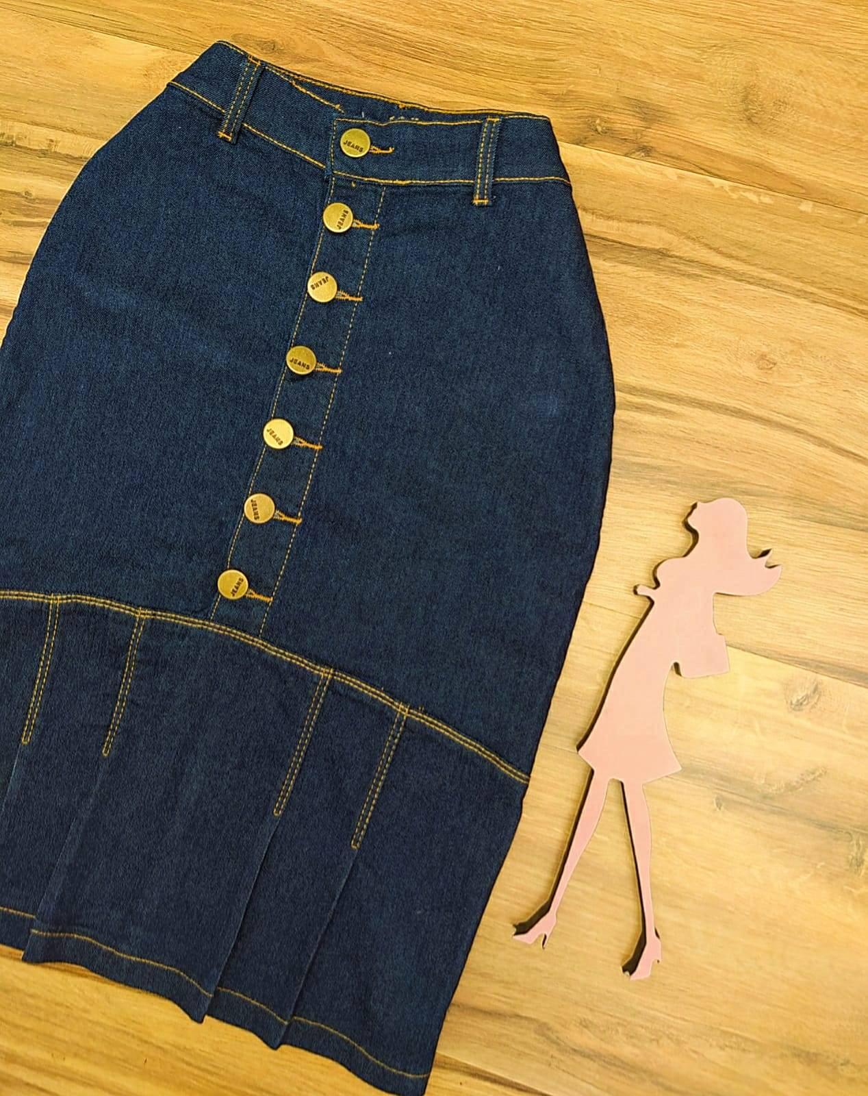Saia Jeans Fernanda SAIA BELLA SB797185 - azul escuro