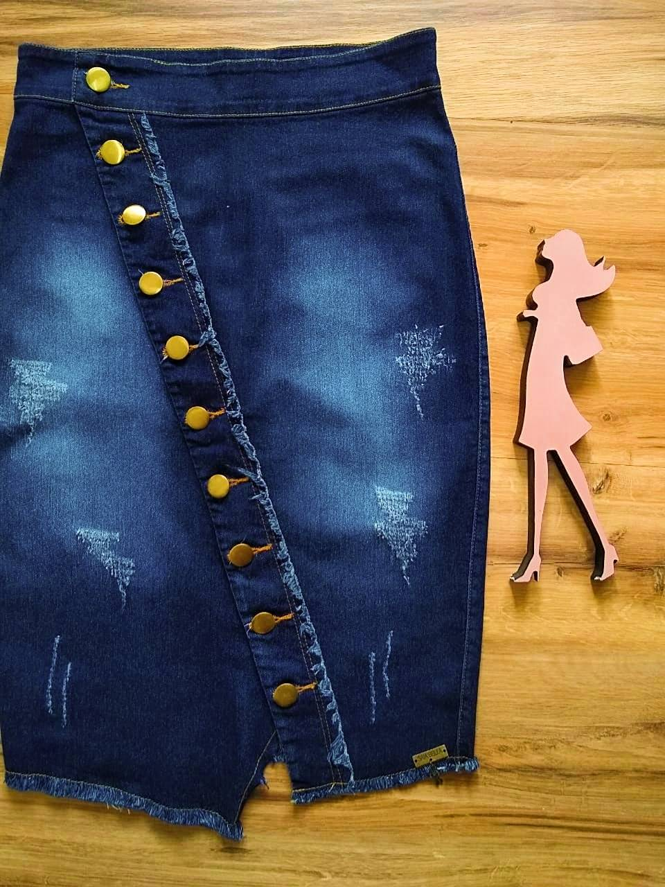 Saia Jeans Flávia SAIA BELLA SB707180 - azul escuro