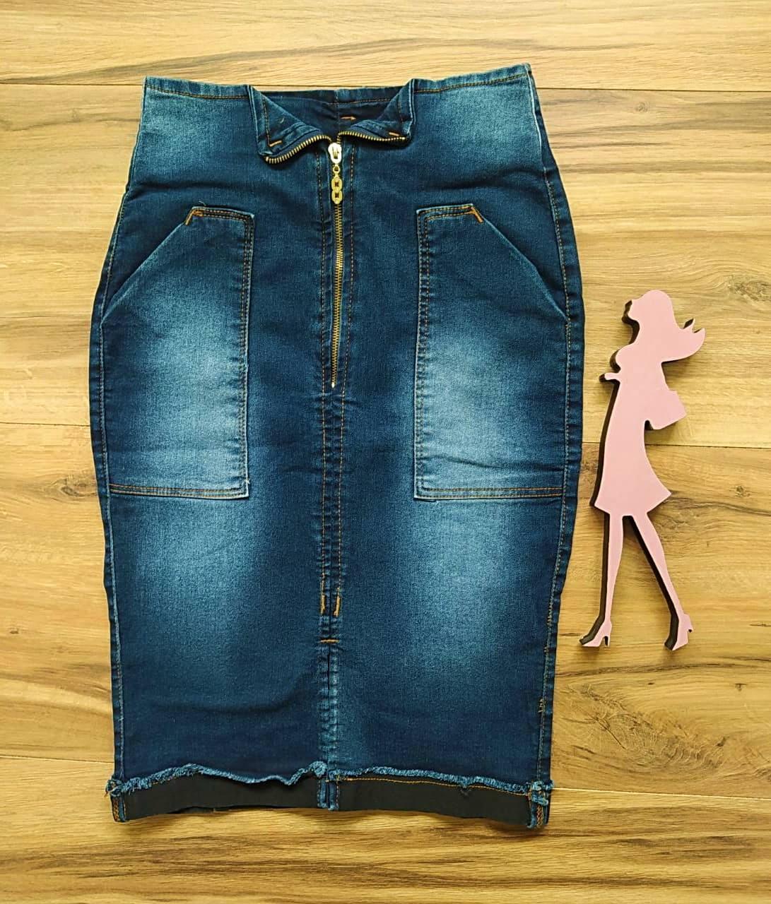 Saia Jeans Joana SAIA BELLA SB1722 - Azul Escuro