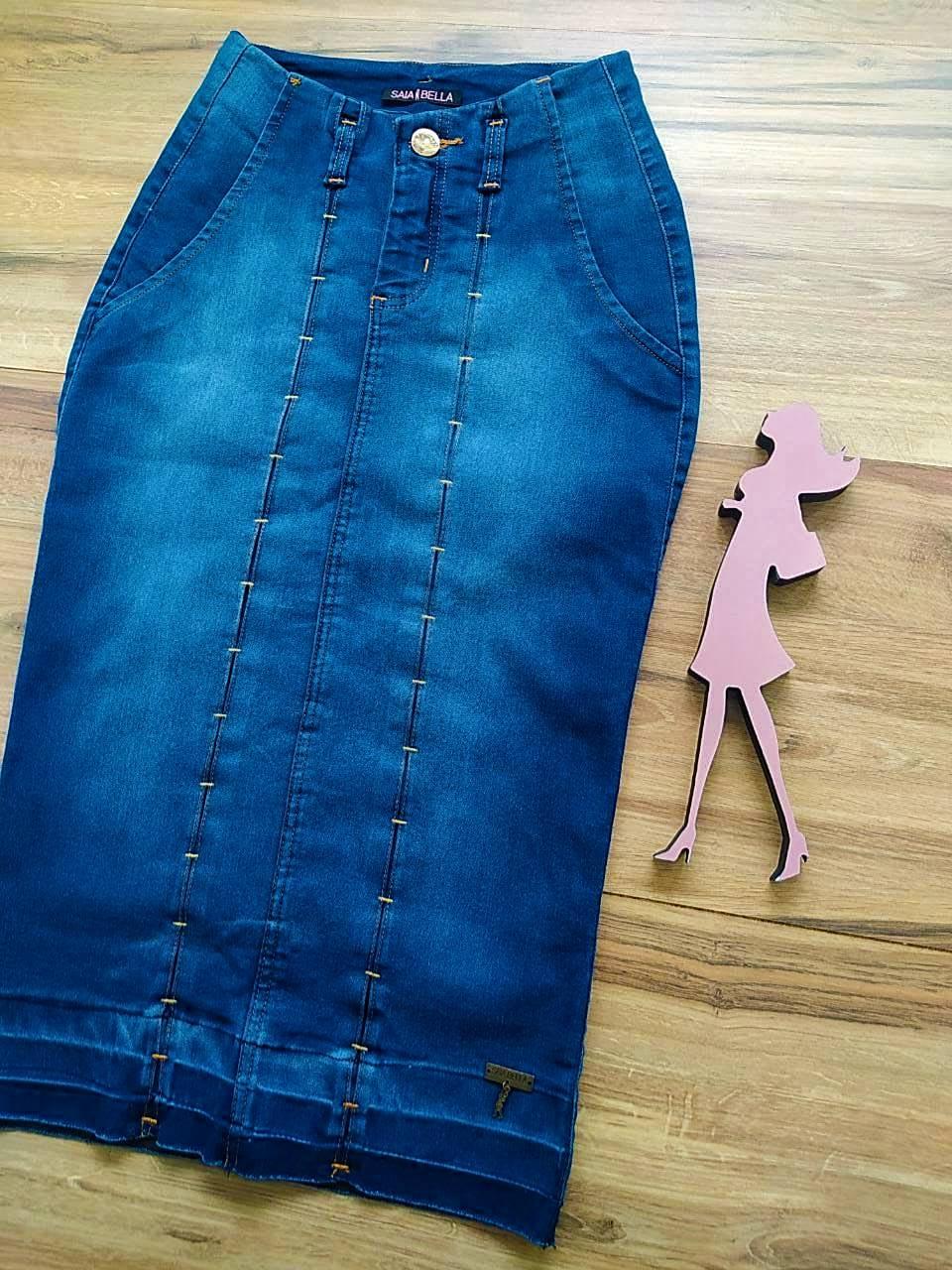 Saia Jeans Jú  Saia Bella SB91105 - Azul Escuro