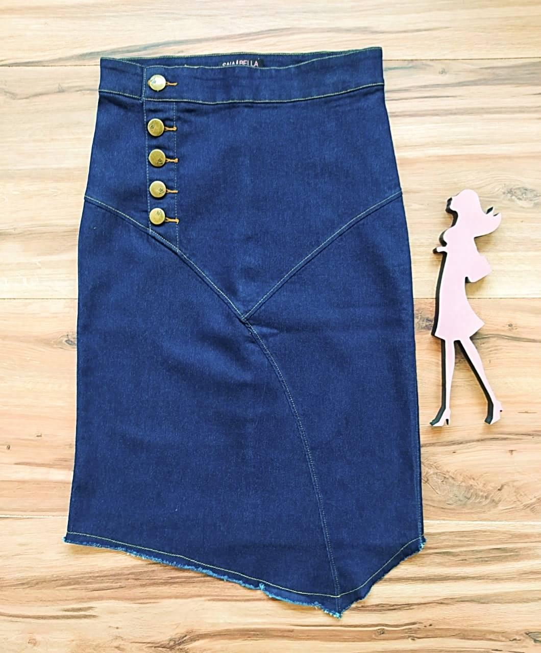 Saia Jeans Keyla SAIA BELLA SB7744 Azul Escuro