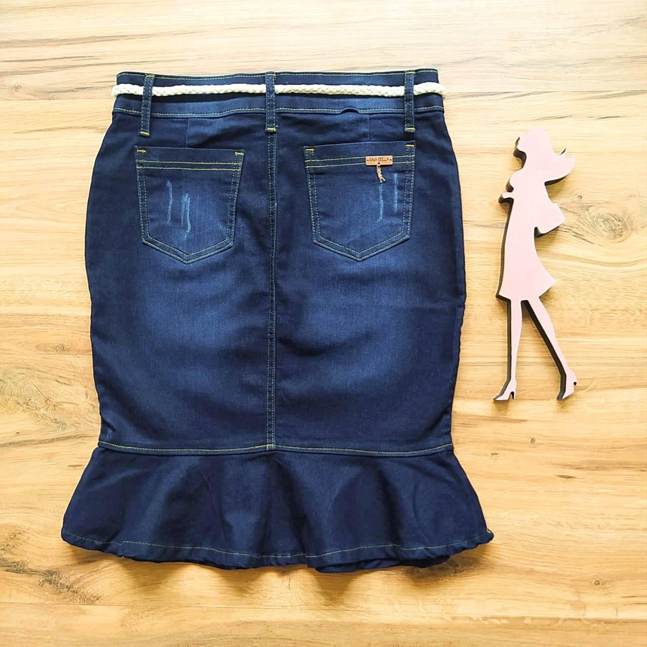Saia Jeans Laura SB126 - Azul Escuro