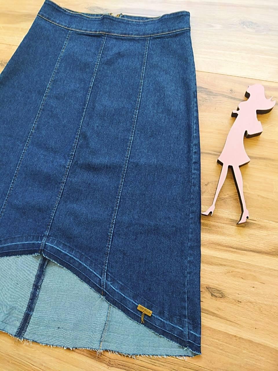 Saia Jeans Lídia SB5615 Azul Escuro
