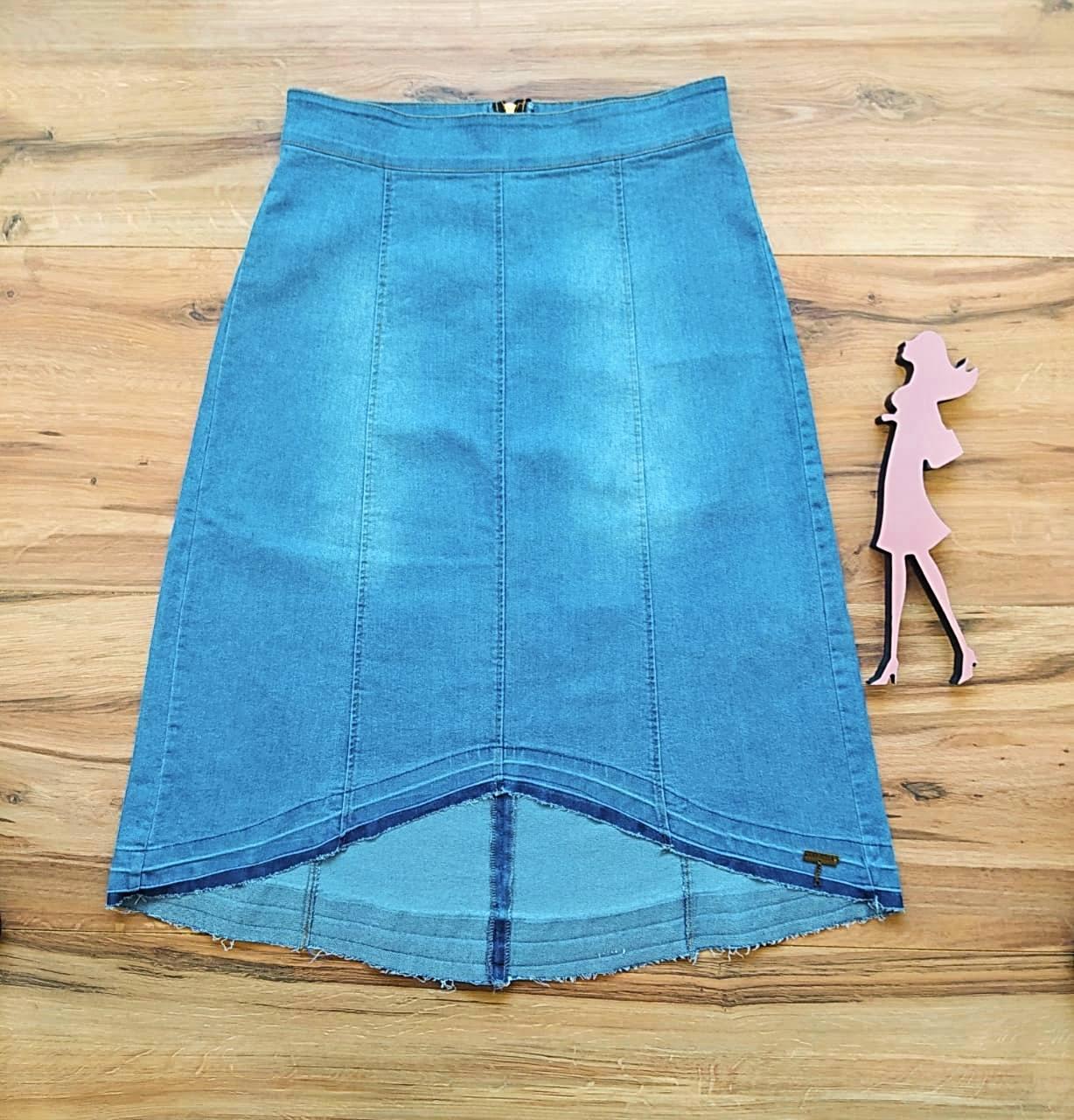 Saia Jeans Lídia SB5615 Azul Claro
