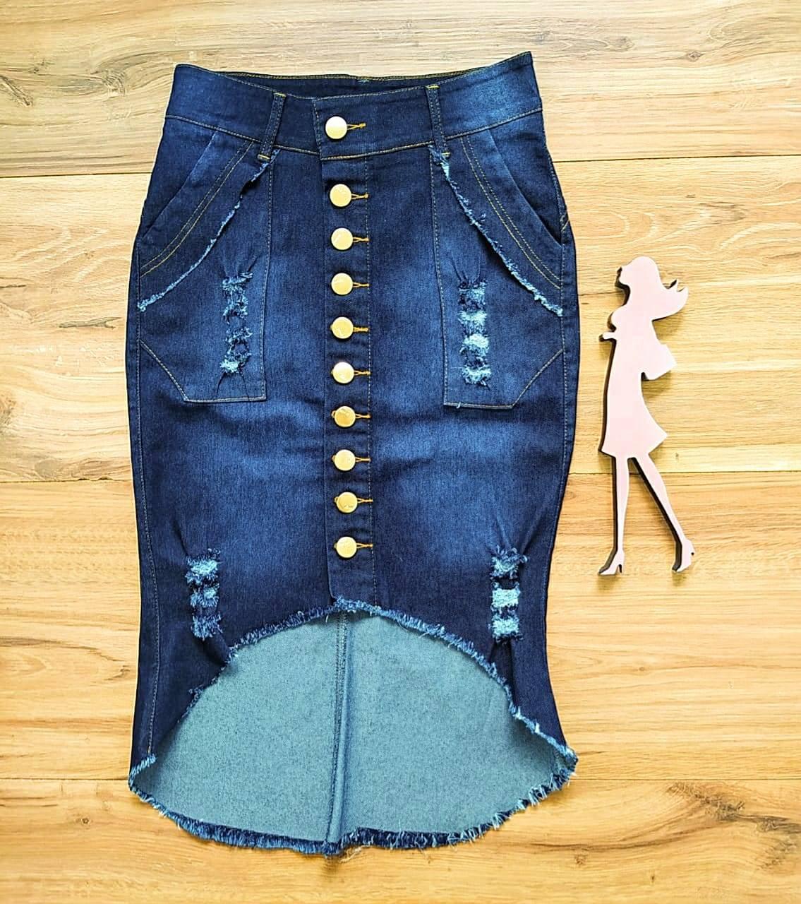 Saia Jeans Lyandra SAIA BELLA SB20110_azul escuro
