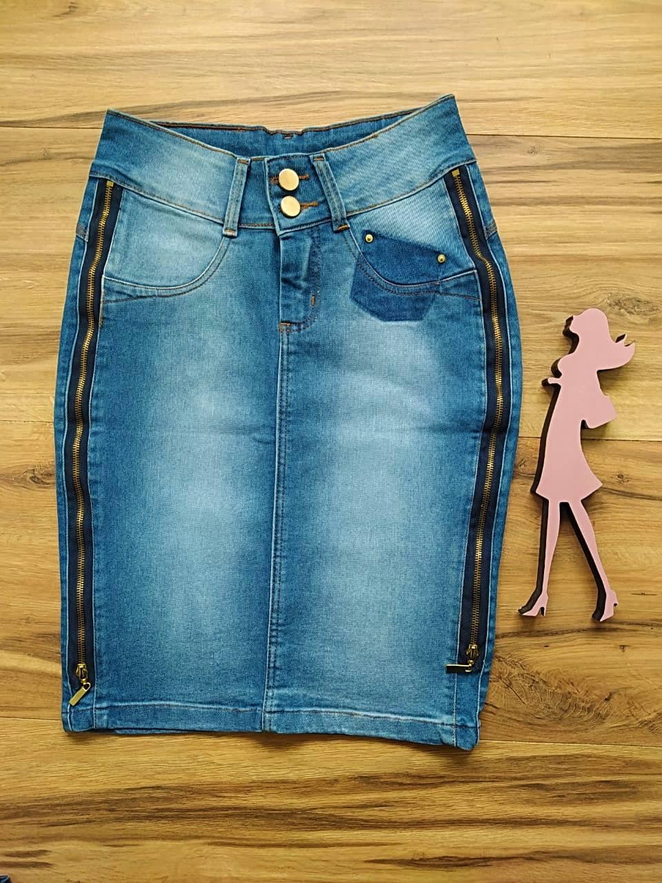 Saia Jeans Margo SAIA BELLA SB1720 - Azul Claro