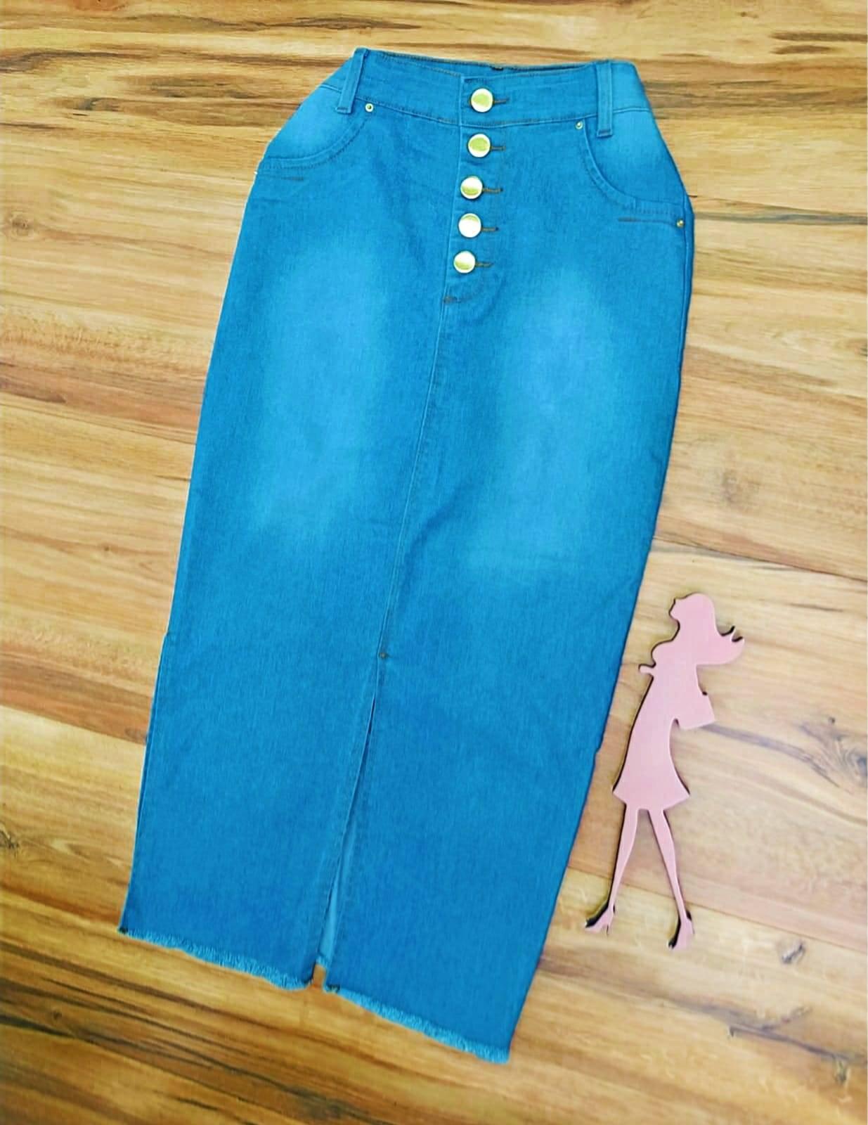 Saia Jeans Olivia Saia Bella SB5613 - Azul Claro