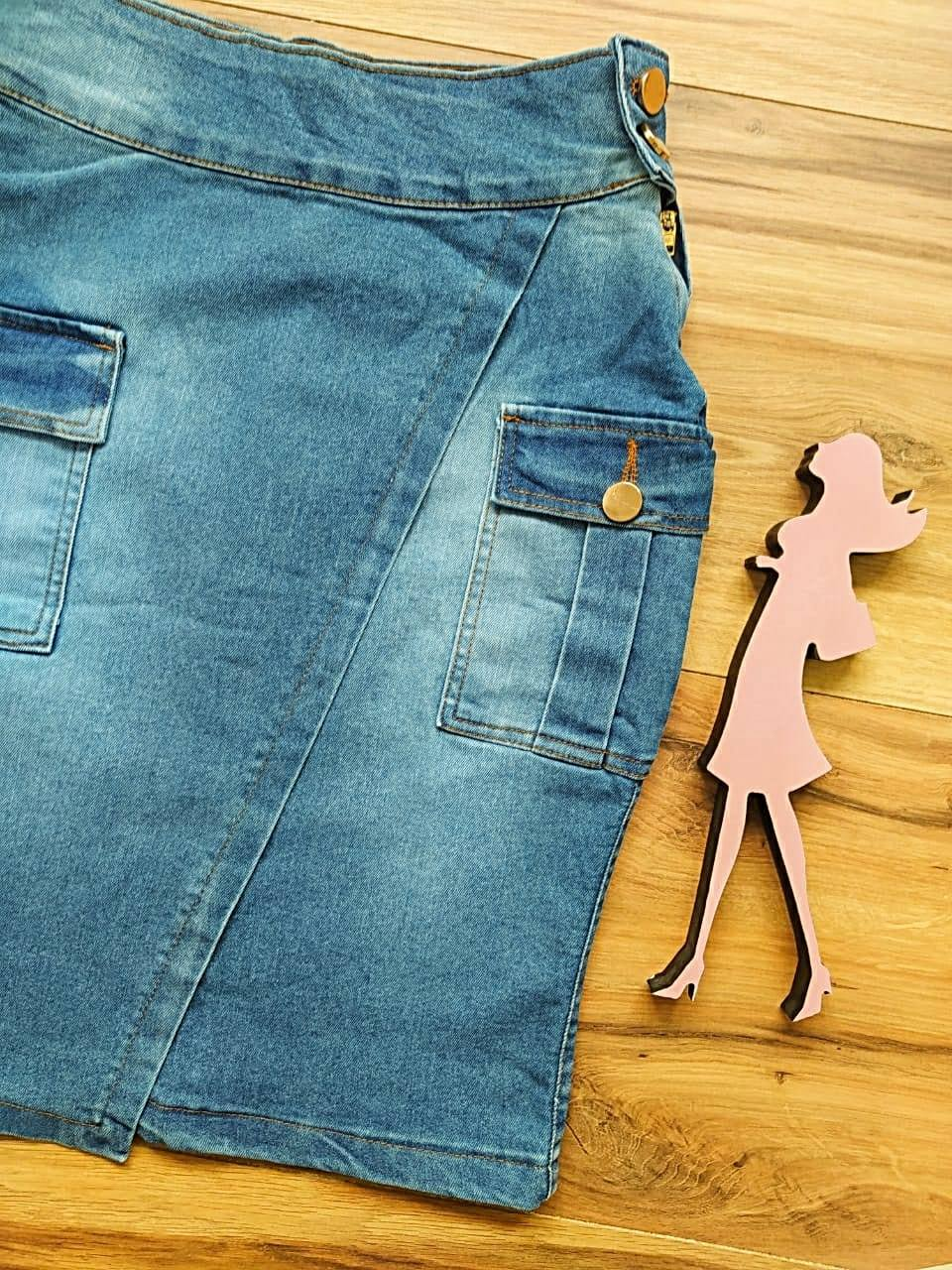 Saia Jeans Rebeca SB007 - Azul Claro