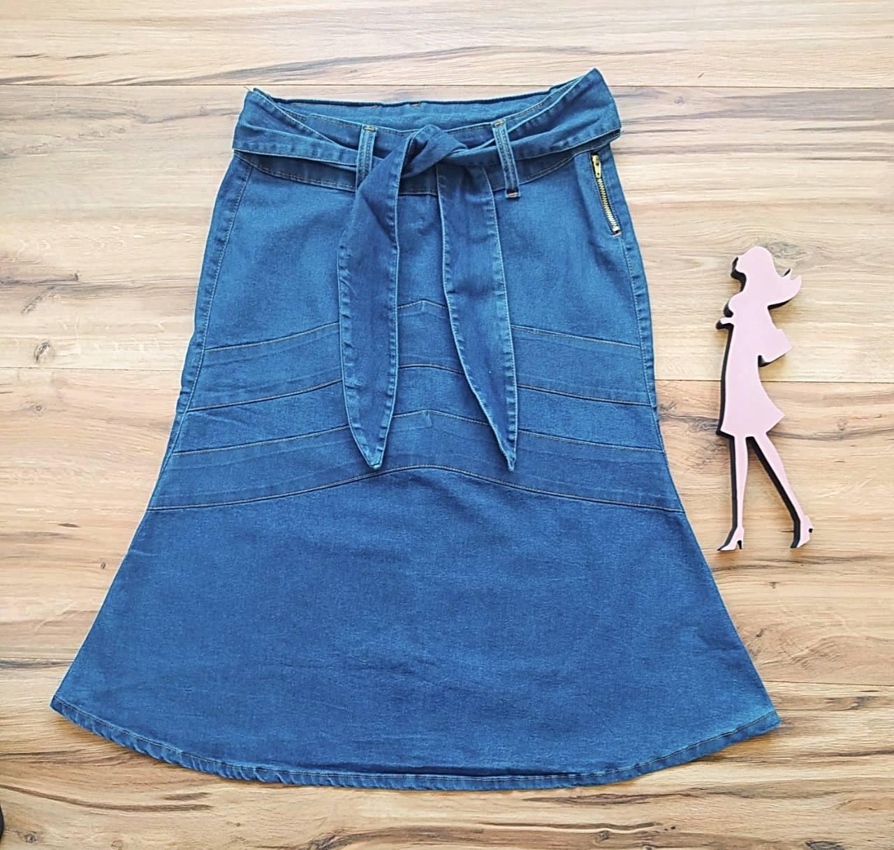 Saia Jeans Samantha SB1723 Azul Escuro