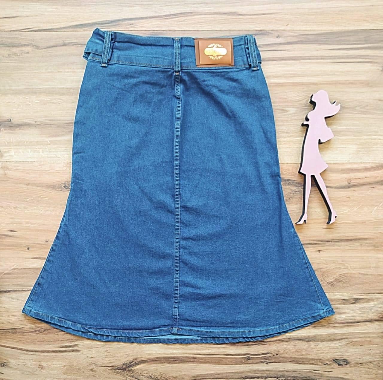 Saia Jeans Samantha SB1723 Azul Claro