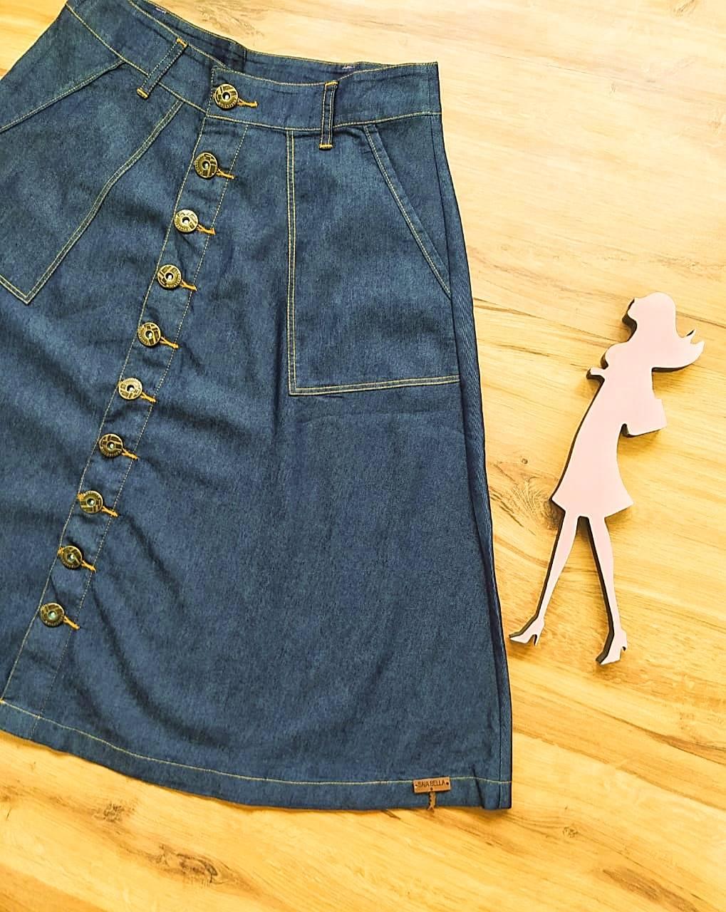 Saia Jeans Siana  Saia Bella SB20113