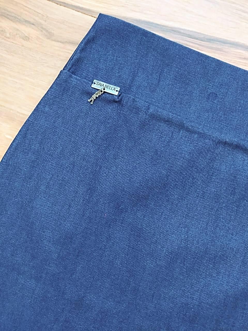 Saia Laura Modelo Lápis  Saia Bella SB858 Jeans