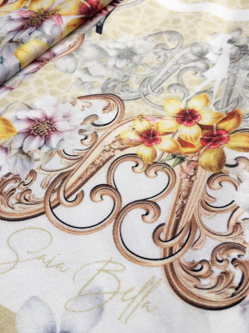 Saia Midi Beija Flor Amarelo Saia Bella cod SBE023