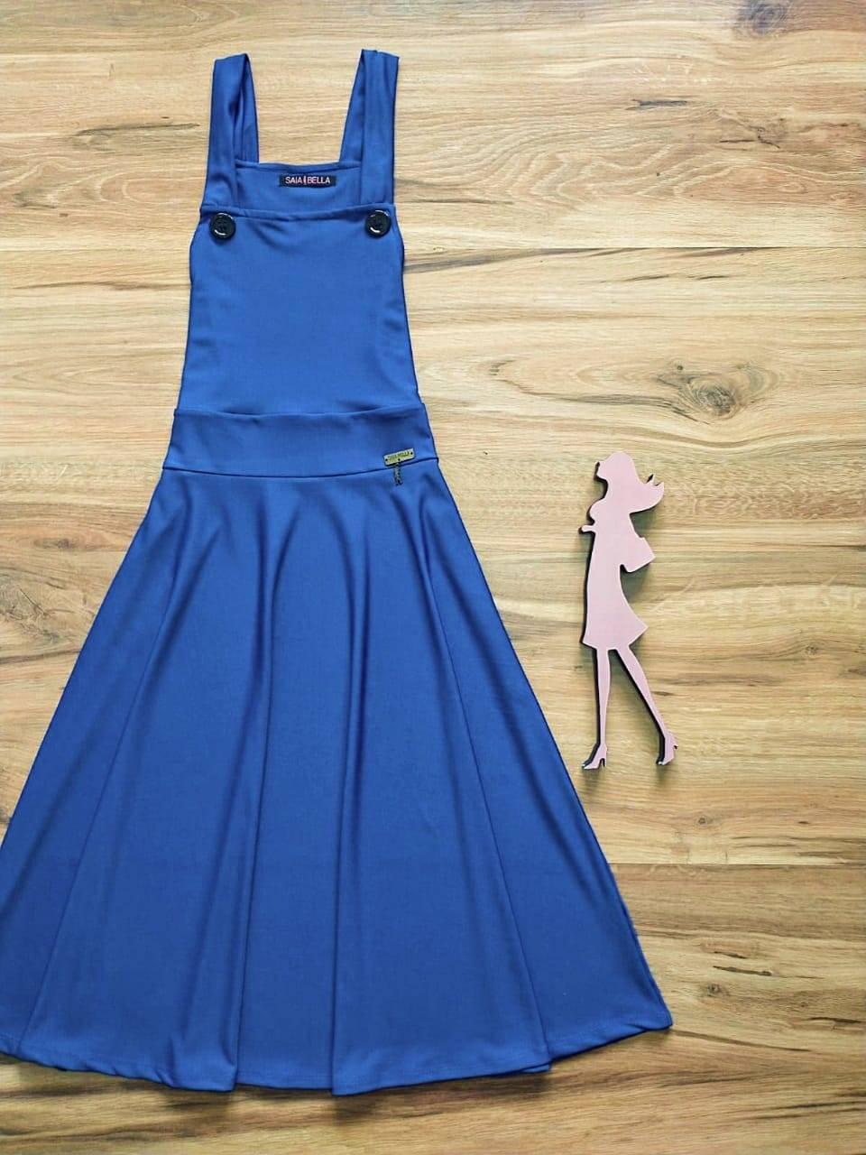 Salopete - Jardineira Godê Alice Saia Bella  SB504110 Azul