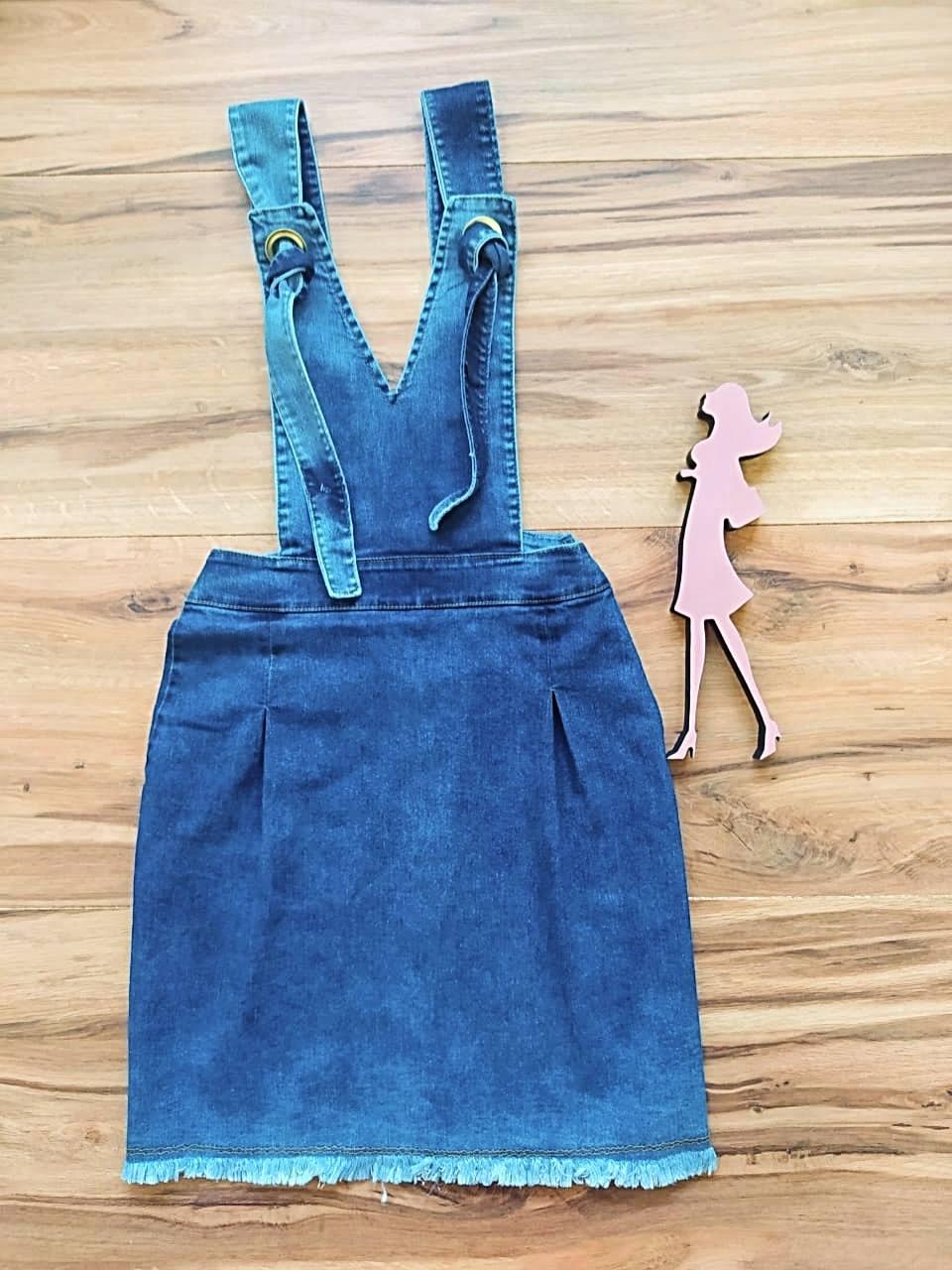 Salopete Jeans Miami Saia Bella SB5612 - Azul Claro