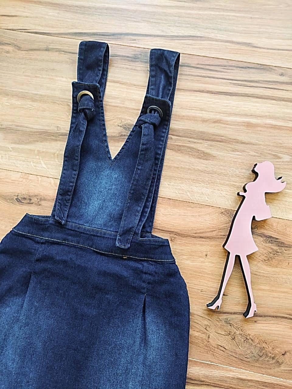 Salopete Jeans Miami Saia Bella SB5612 - Azul Escuro