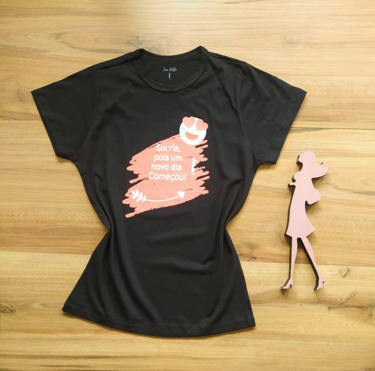T-shirt Alegria Saia Bella SB79003 Preto