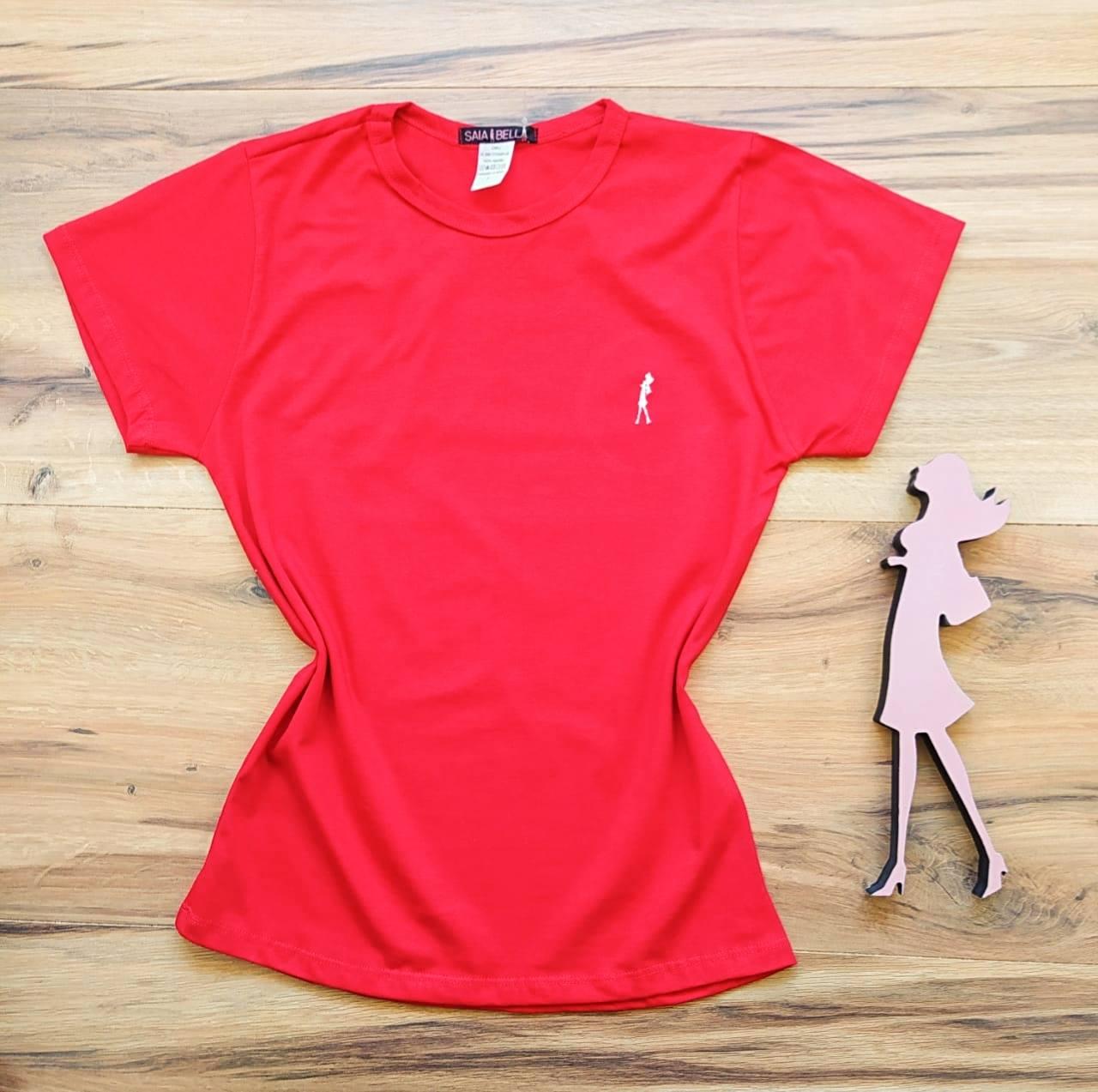 T-shirt Ana Maria Saia Bella Lisa SB90001 Vermelho