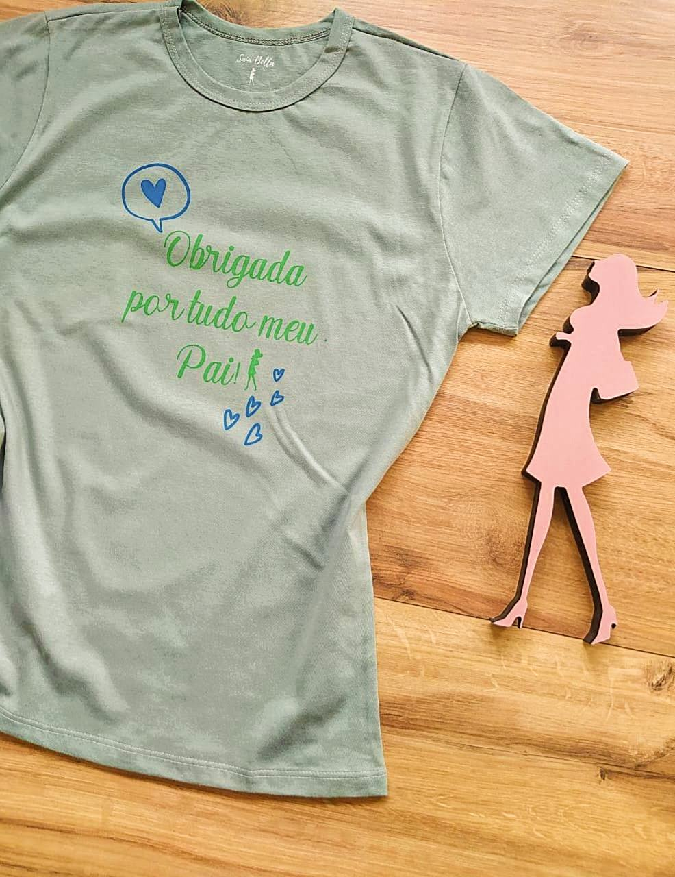 T-shirt Gratidão Saia Bella SB79001 Cinza Claro