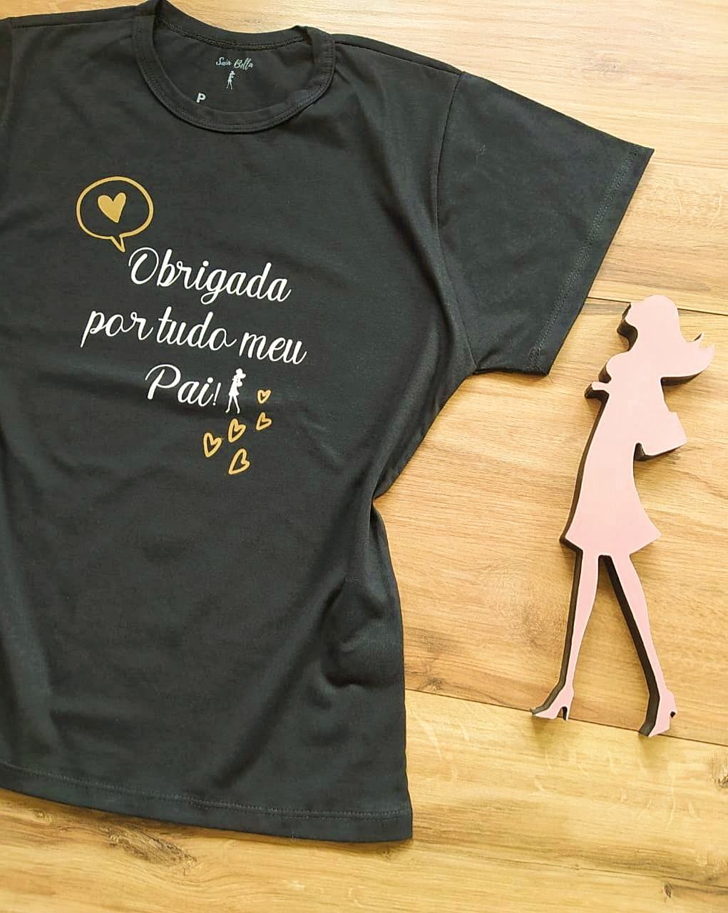T-shirt Gratidão Saia Bella SB79001 Preto
