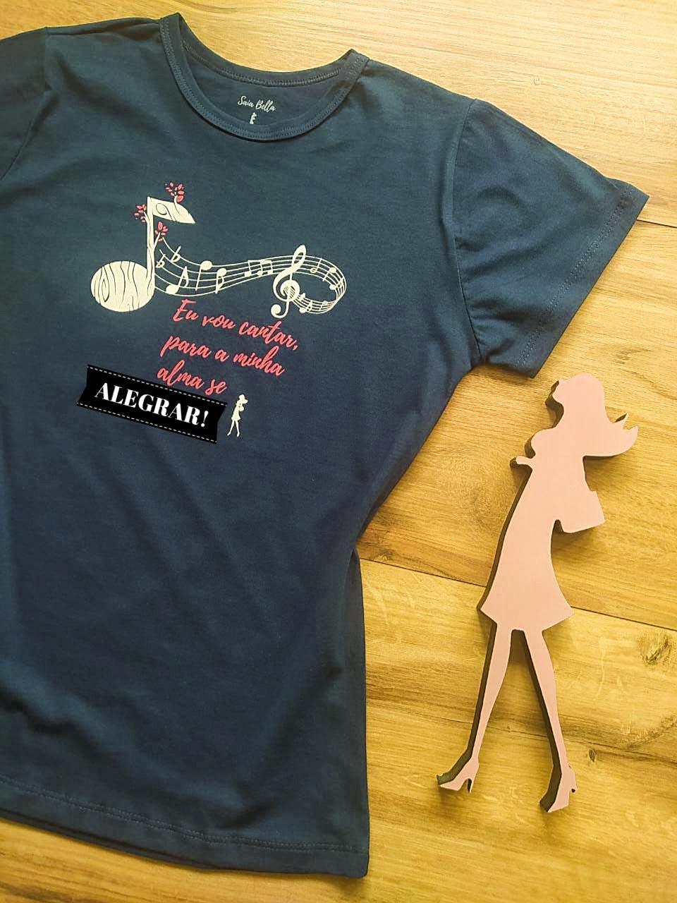 T-shirt Música Saia Bella SB79005 Azul Marinho