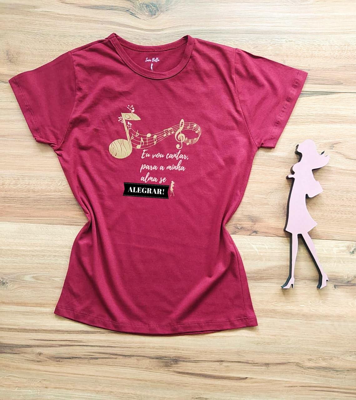 T-shirt Música Saia Bella SB79005 - Marsala