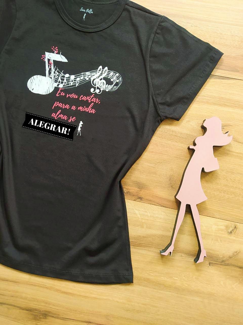 T-shirt Música Saia Bella SB79005 - Preto