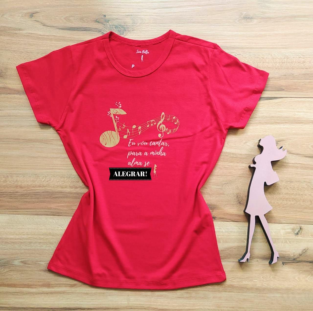 T-shirt Música Saia Bella SB79005 - Vermelho