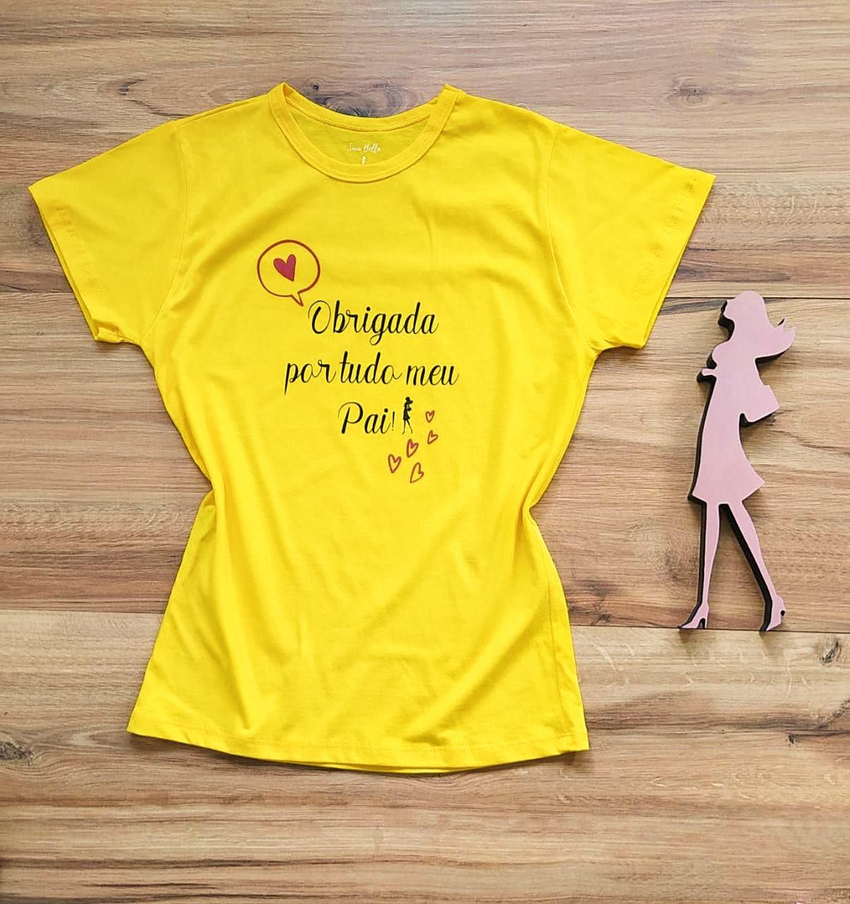 T-shirt Gratidão Saia Bella SB79001 Amarelo
