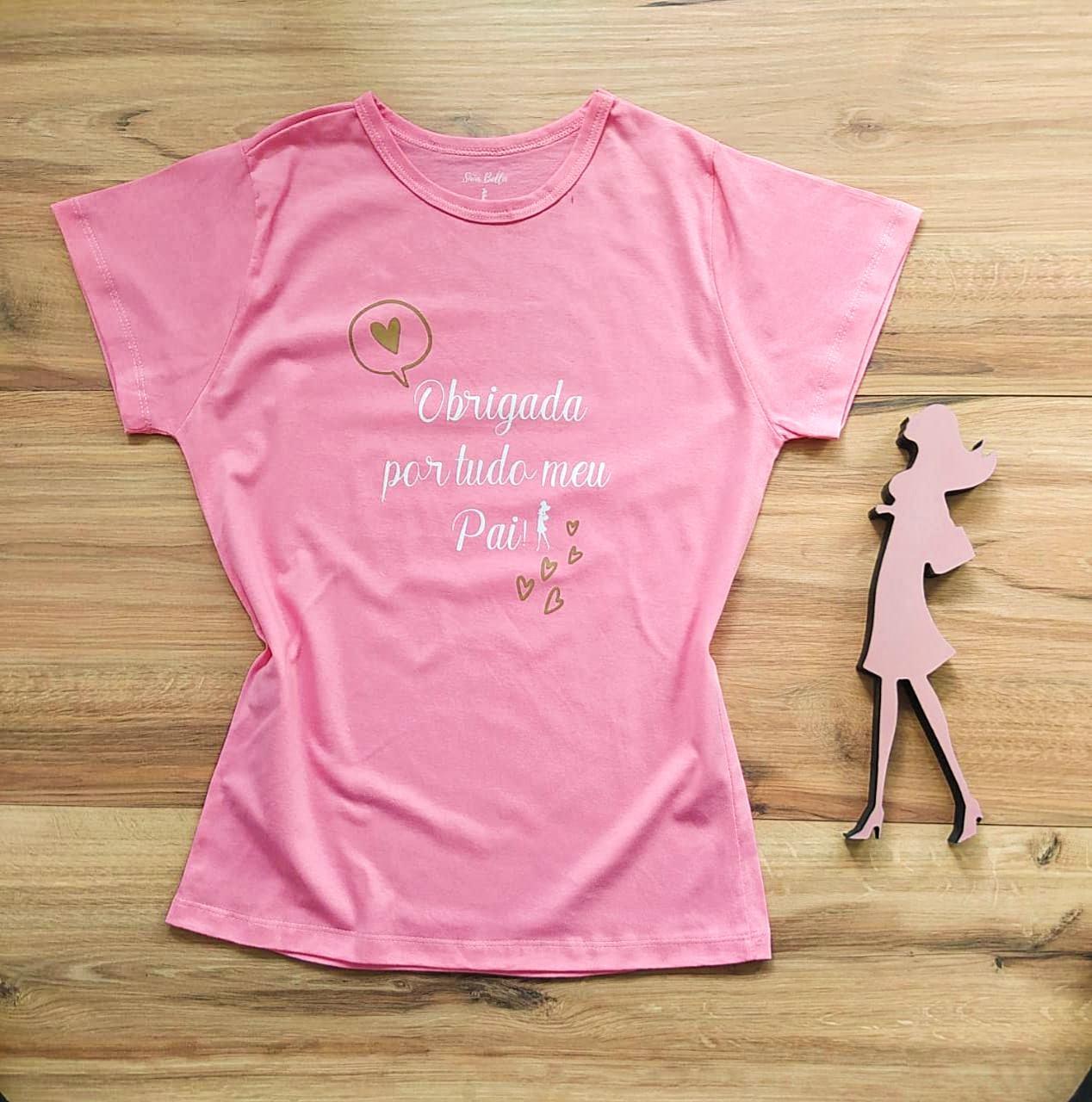 T-shirt Gratidão Saia Bella SB79001 Rosa