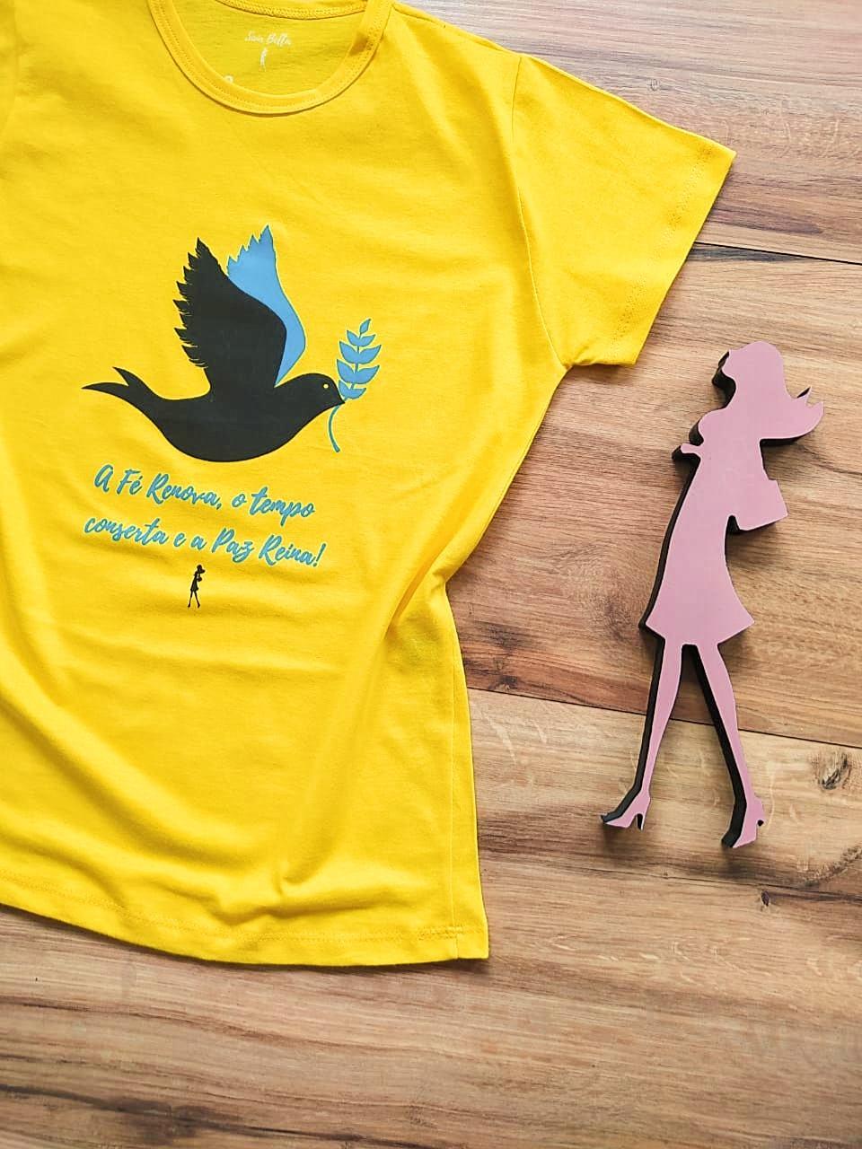 T-shirt Paz Saia Bella SB79004 Amarelo