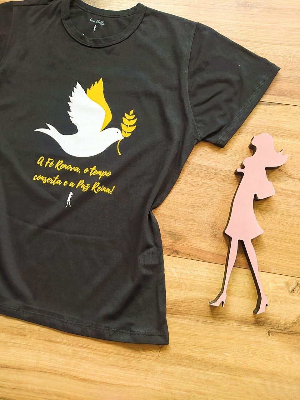 T-shirt Paz Saia Bella SB79004 Preto