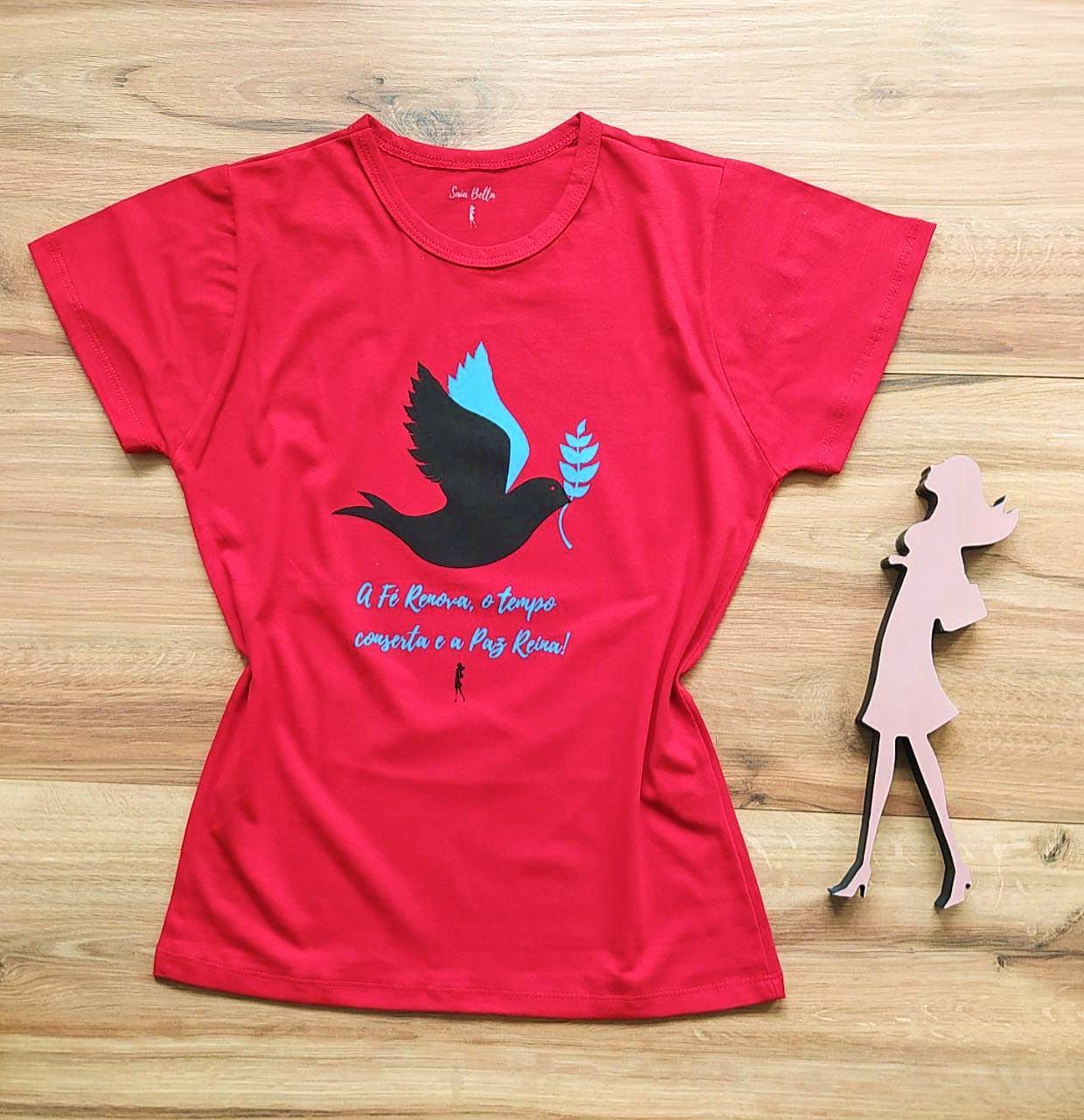 T-shirt Paz Saia Bella SB79004 Vermelho
