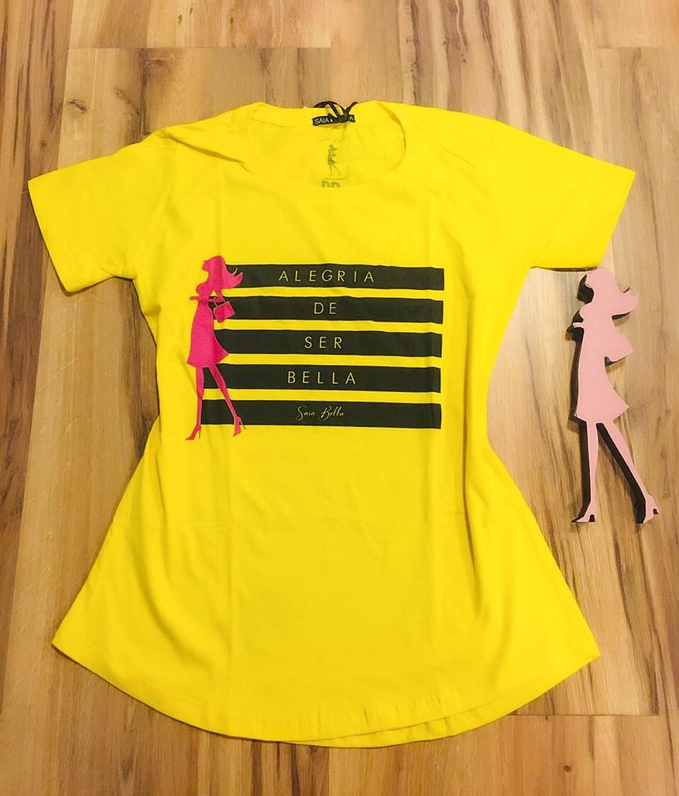 T-shirt Saia Bella Alegria SB903 Amarelo