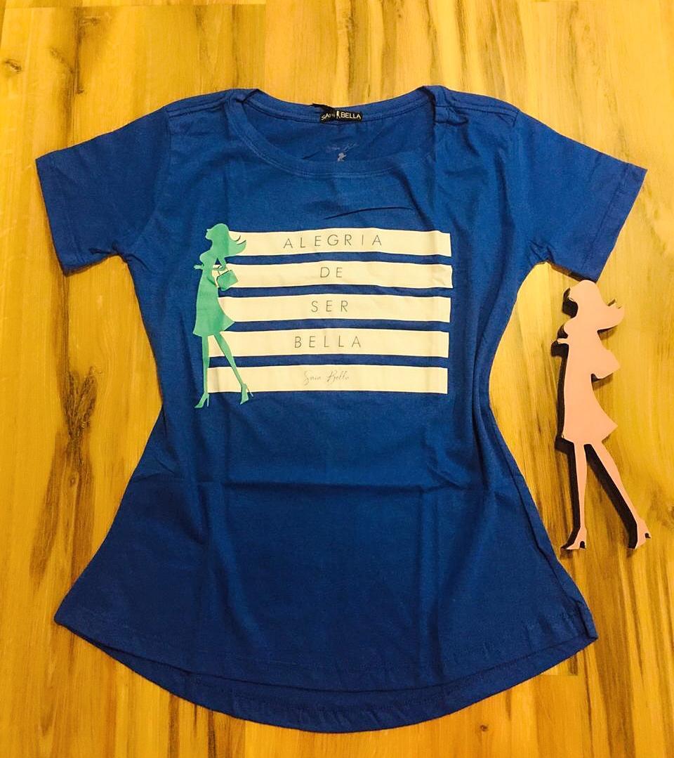 T-shirt Saia Bella Alegria SB903 Azul