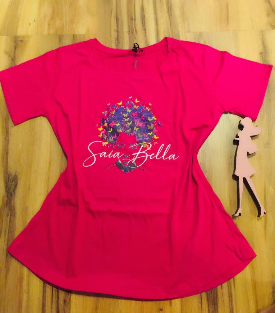 T-shirt Saia Bella Borboletas SB905 Pink