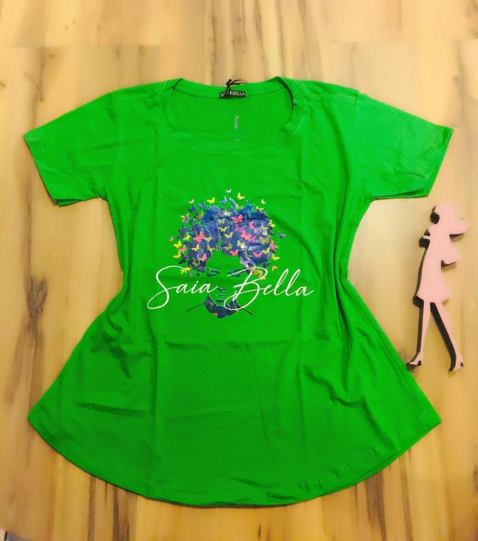T-shirt Saia Bella Borboletas SB905 Verde