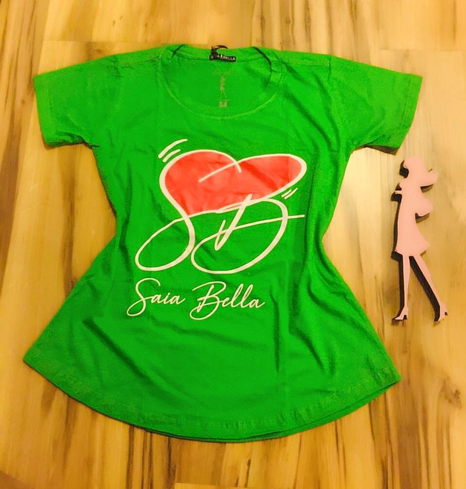 T-shirt Saia Bella Coração de Bella SB900 Verde