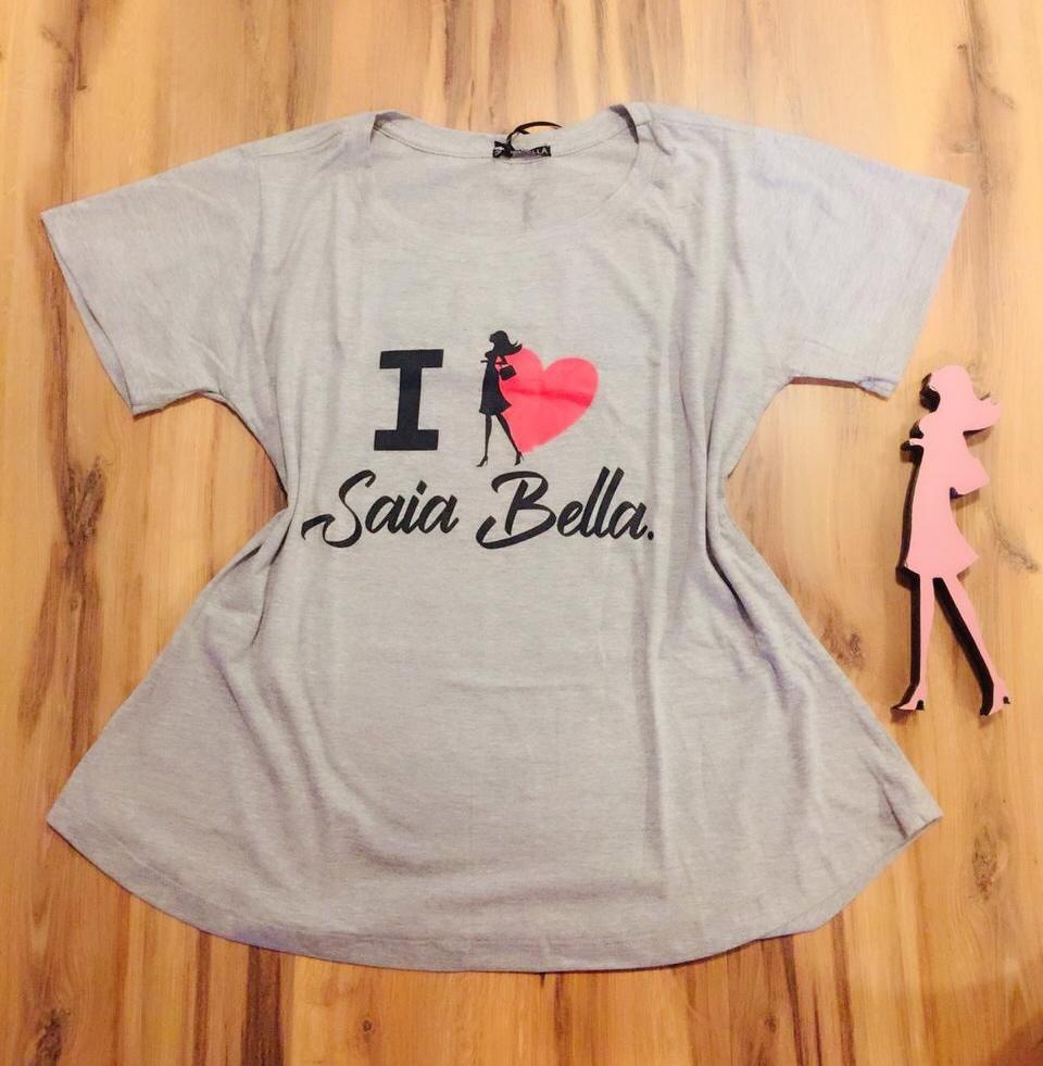 T-shirt Saia Bella I Love SB902 Cinza