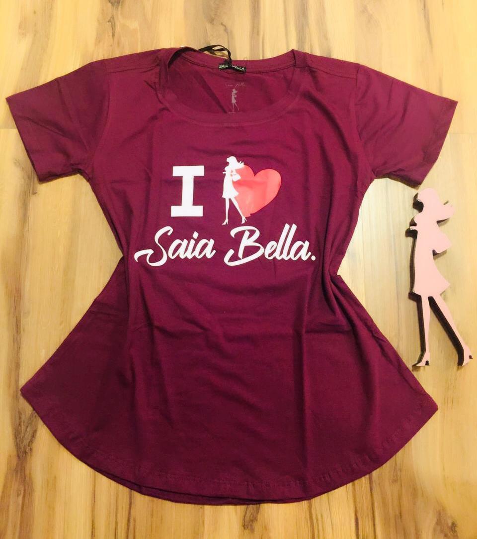 T-shirt Saia Bella I Love SB902 Marsala