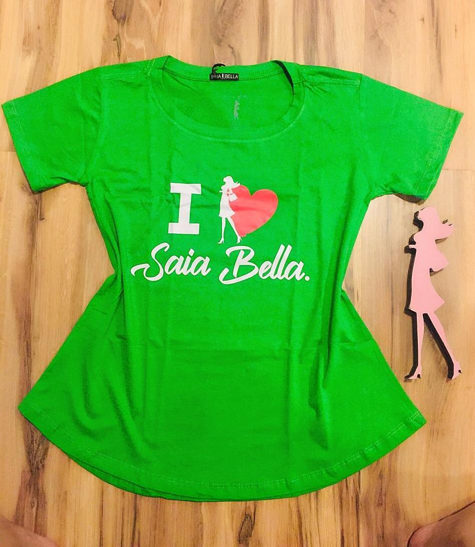 T-shirt Saia Bella I Love SB902 Verde