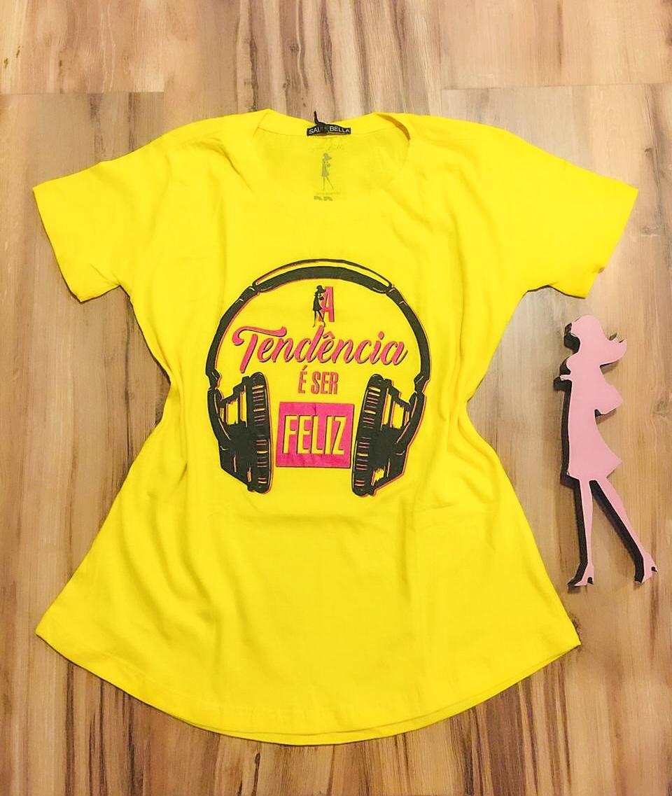 T-shirt Saia Bella Tendência SB901 Amarelo