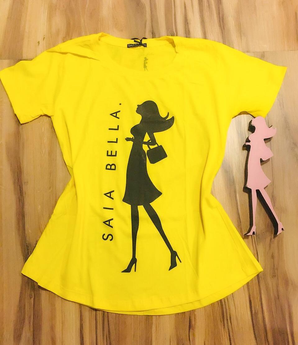T-shirt Saia Bella Woman SB904 Amarelo