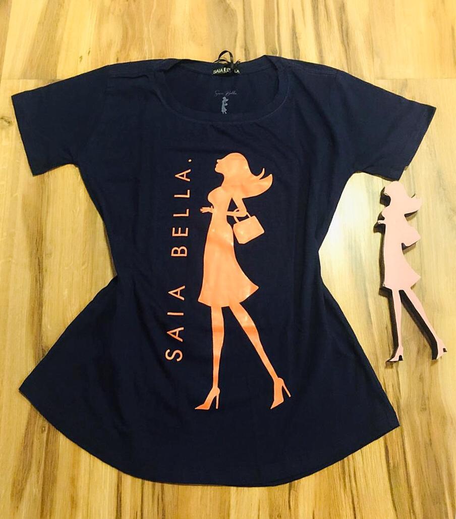 T-shirt Saia Bella Woman SB904 Azul marinho